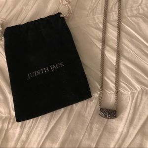 Judith Jack silver pendant necklace